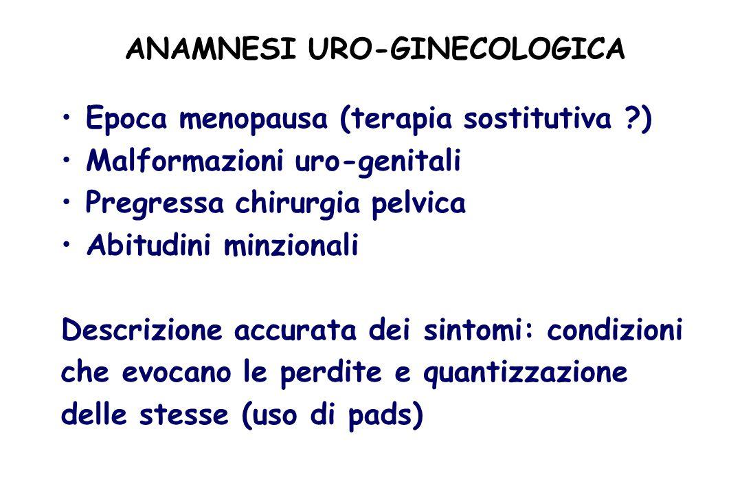 ANAMNESI URO-GINECOLOGICA