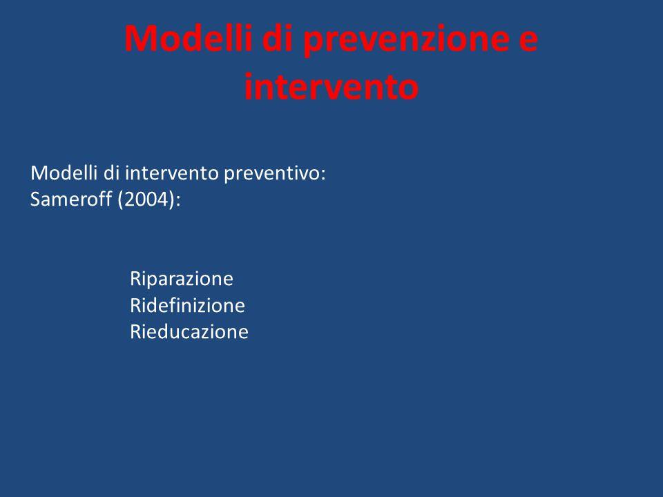 Modelli di prevenzione e intervento