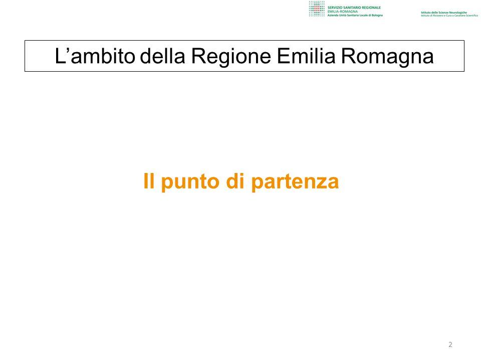 L'ambito della Regione Emilia Romagna