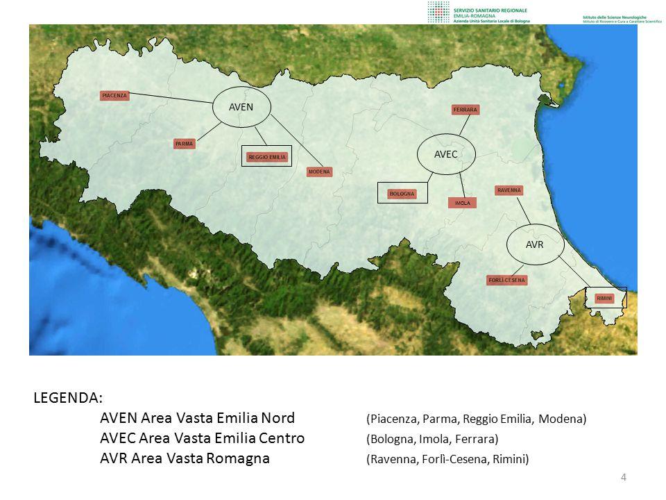 AVEN Area Vasta Emilia Nord (Piacenza, Parma, Reggio Emilia, Modena)