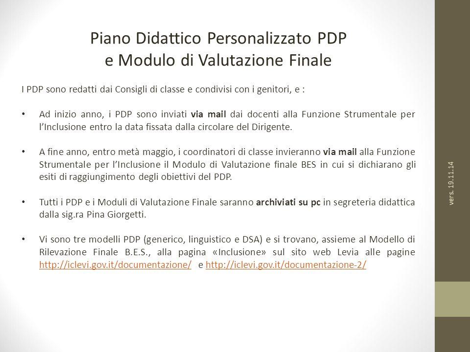 Piano Didattico Personalizzato PDP e Modulo di Valutazione Finale