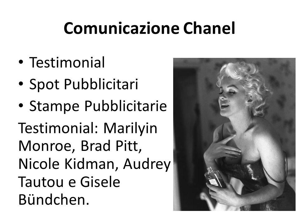 Comunicazione Chanel Testimonial Spot Pubblicitari