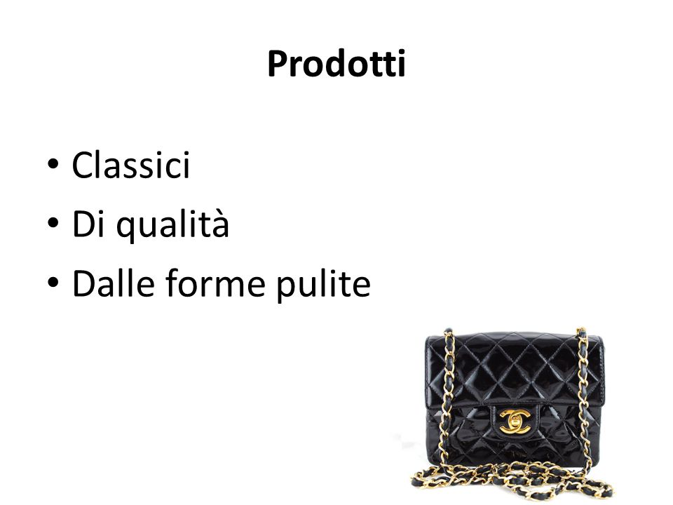 Prodotti Classici Di qualità Dalle forme pulite