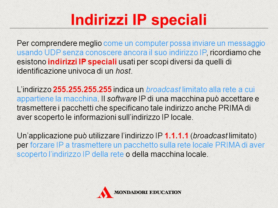Indirizzi IP speciali