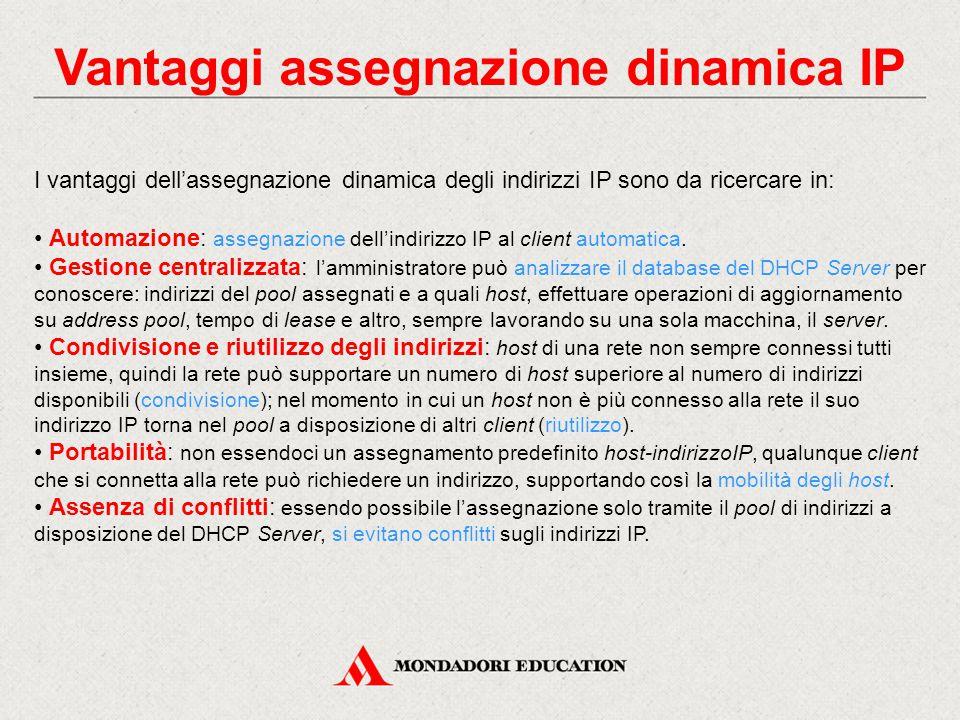 Vantaggi assegnazione dinamica IP