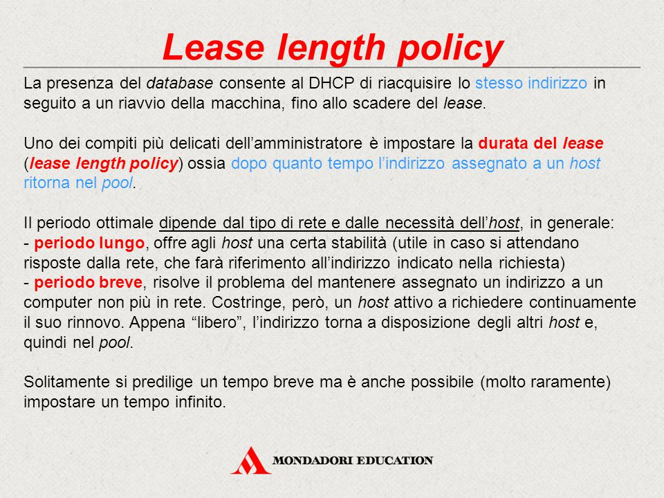 Lease length policy