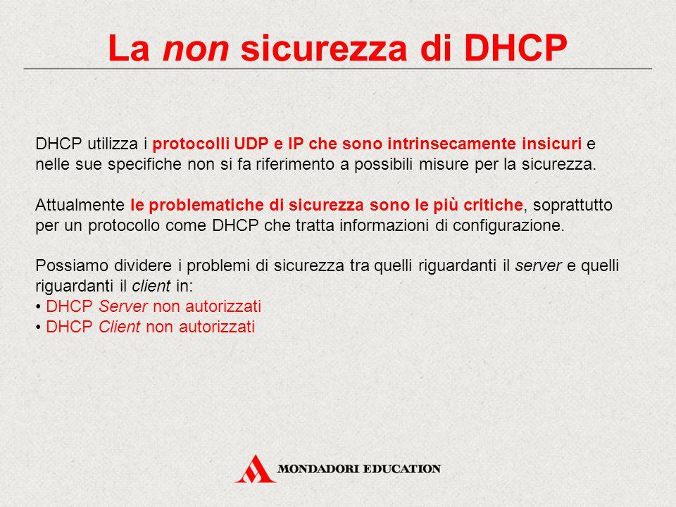 La non sicurezza di DHCP