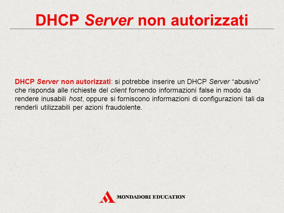 DHCP Server non autorizzati
