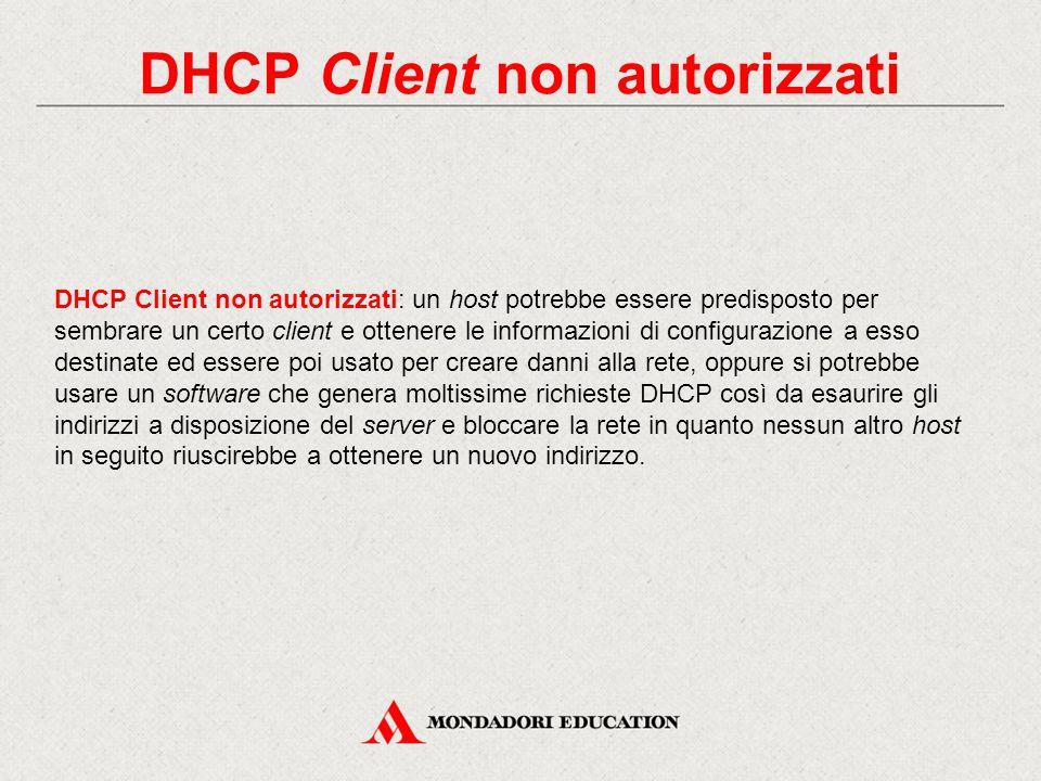DHCP Client non autorizzati