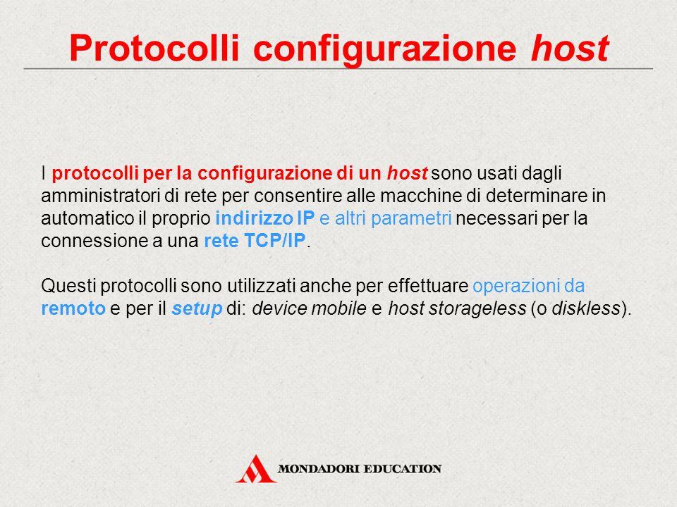 Protocolli configurazione host