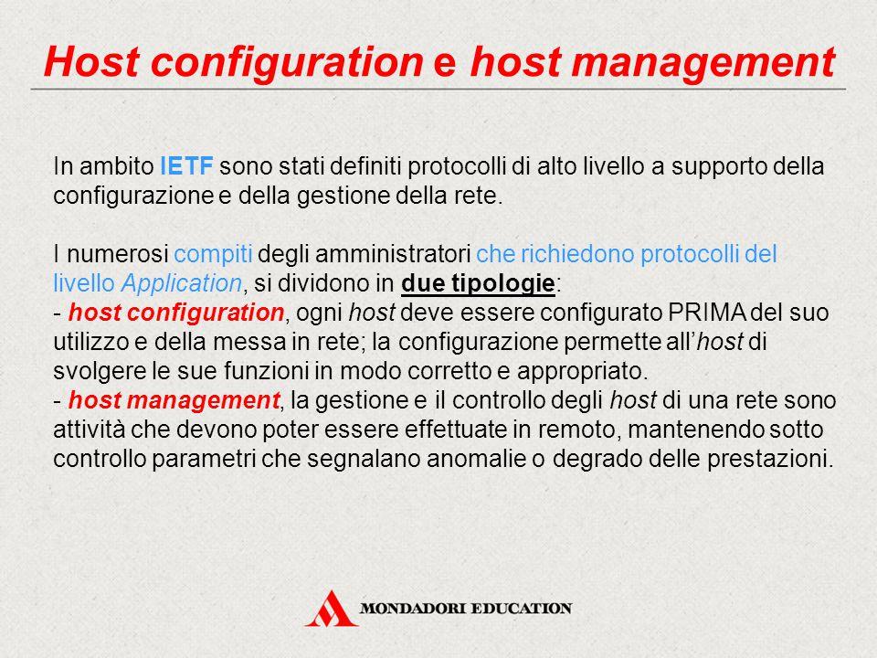 Host configuration e host management