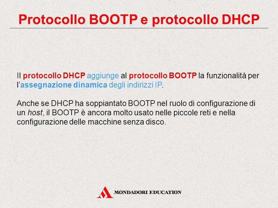 Protocollo BOOTP e protocollo DHCP