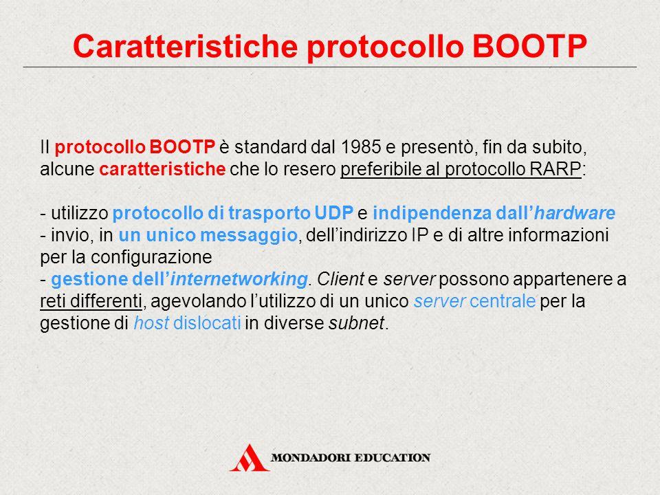 Caratteristiche protocollo BOOTP