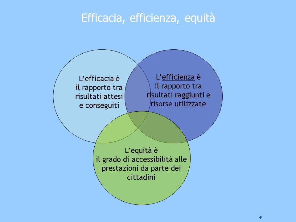 Efficacia, efficienza, equità