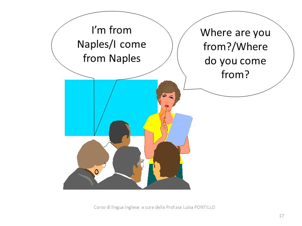 I'm from Naples/I come from Naples