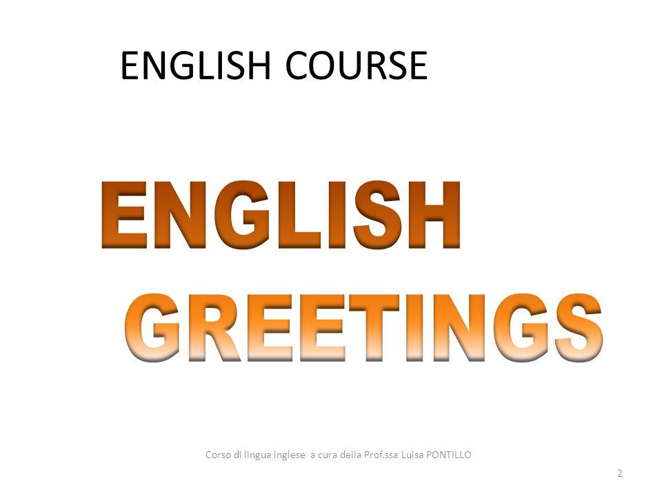 Corso di lingua inglese a cura della Prof.ssa Luisa PONTILLO