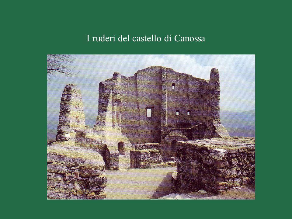 I ruderi del castello di Canossa