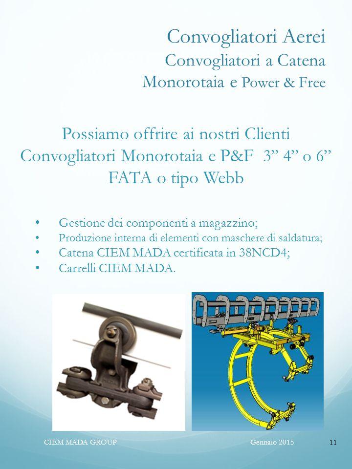 Convogliatori Aerei Convogliatori a Catena Monorotaia e Power & Free