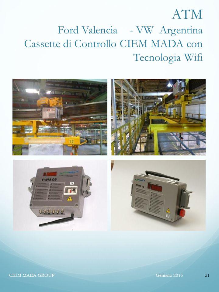 ATM Ford Valencia - VW Argentina Cassette di Controllo CIEM MADA con Tecnologia Wifi