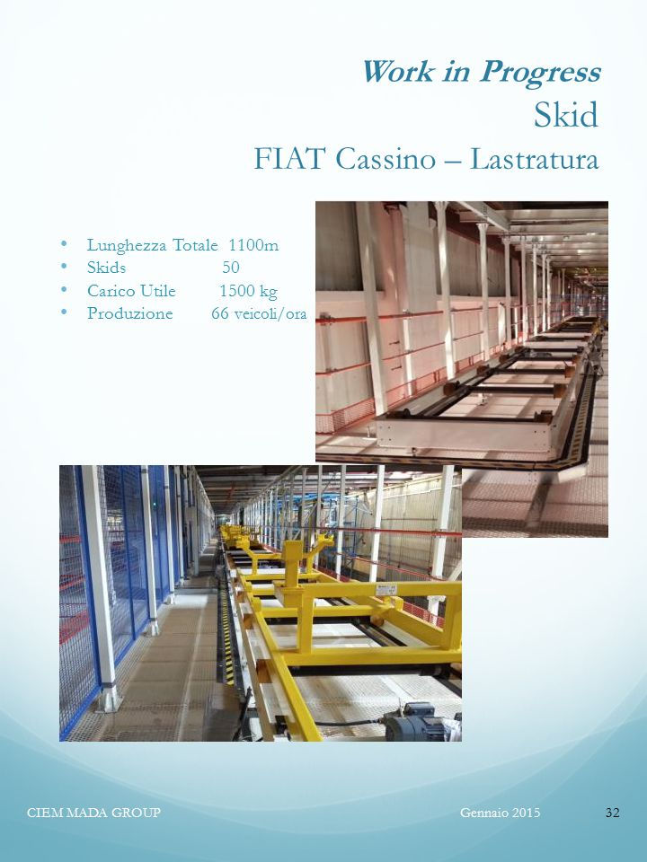 Work in Progress Skid FIAT Cassino – Lastratura