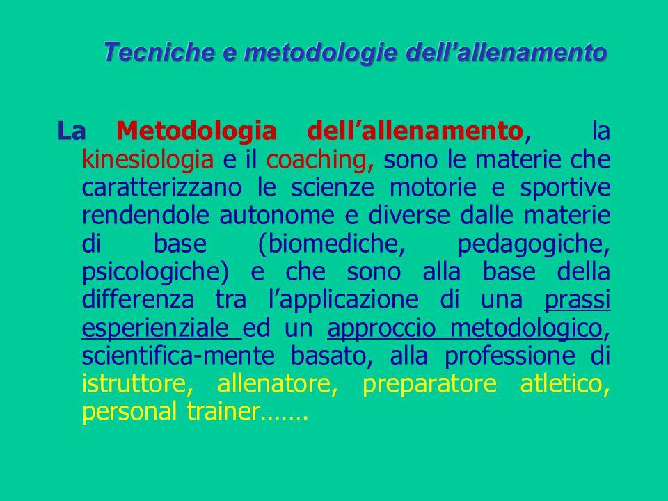 Tecniche e metodologie dell'allenamento