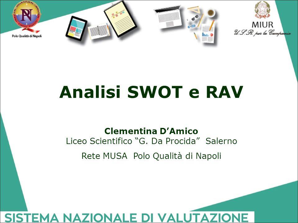 Analisi SWOT e RAV Clementina D'Amico Liceo Scientifico G.