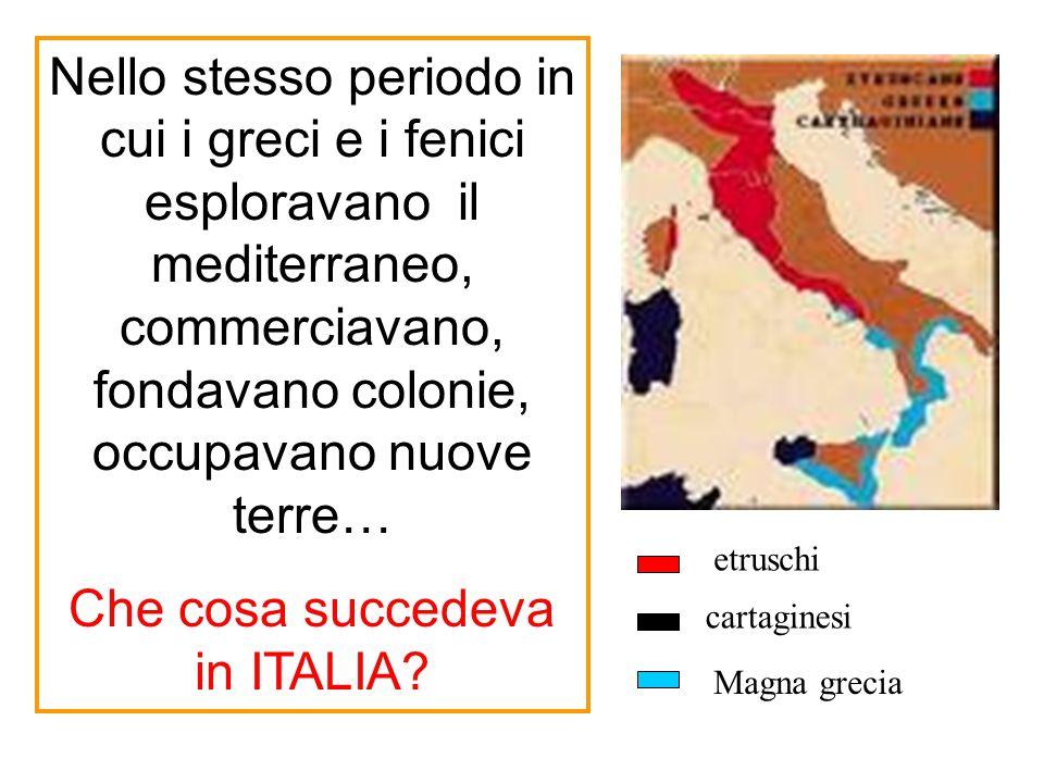 Che cosa succedeva in ITALIA