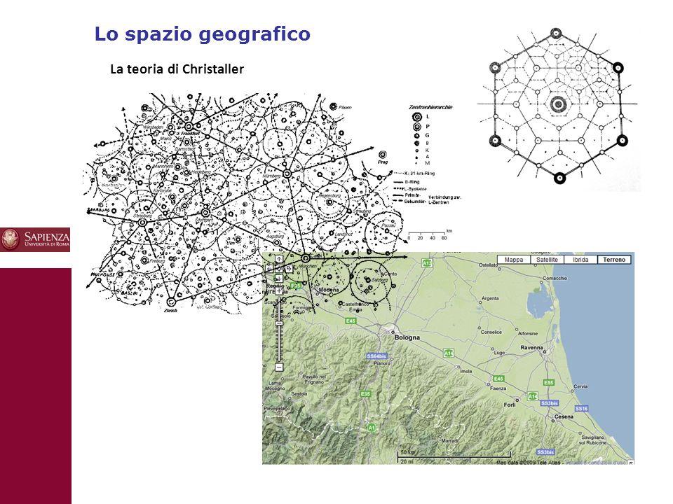 Lo spazio geografico La teoria di Christaller 10