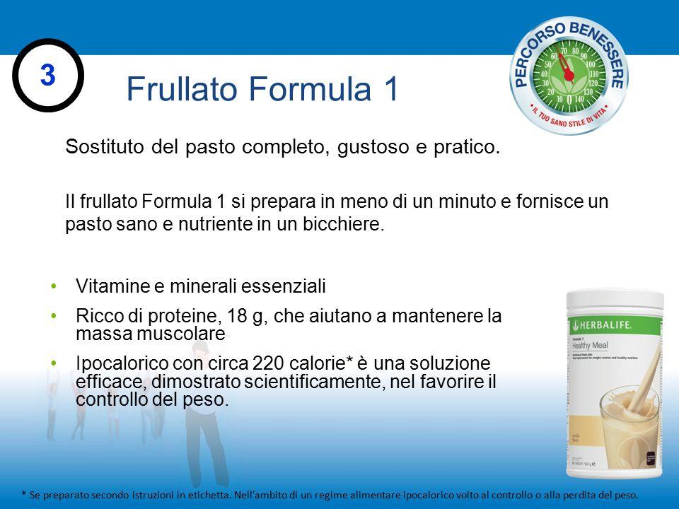 Frullato Formula 1 3 Sostituto del pasto completo, gustoso e pratico.