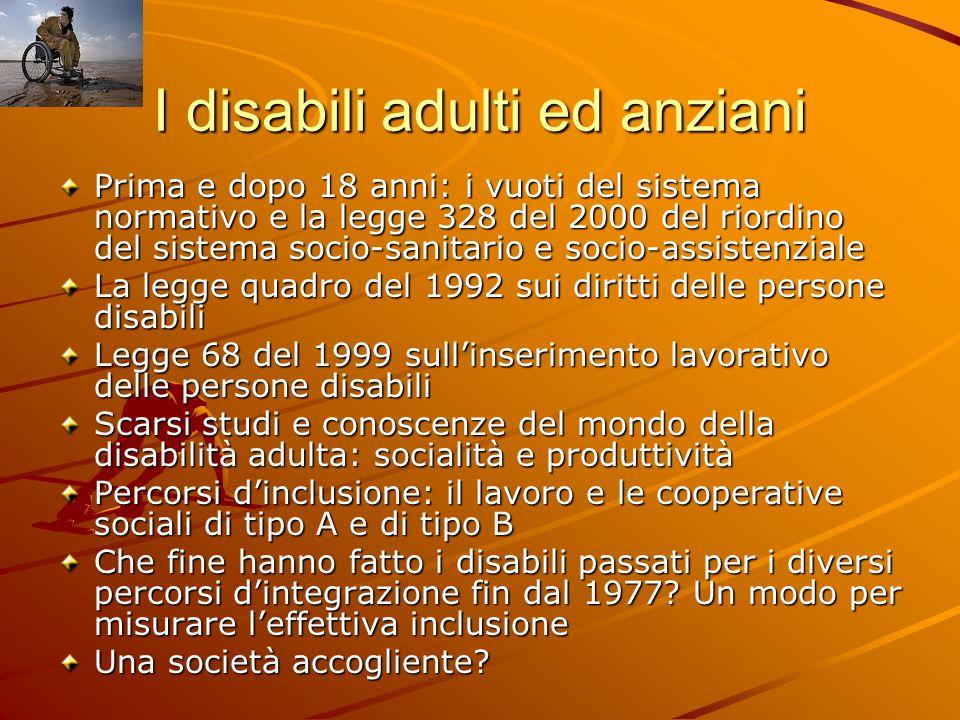 I disabili adulti ed anziani