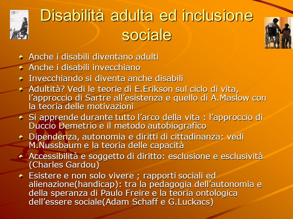 Disabilità adulta ed inclusione sociale