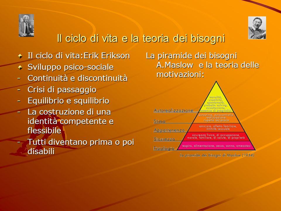 Il ciclo di vita e la teoria dei bisogni