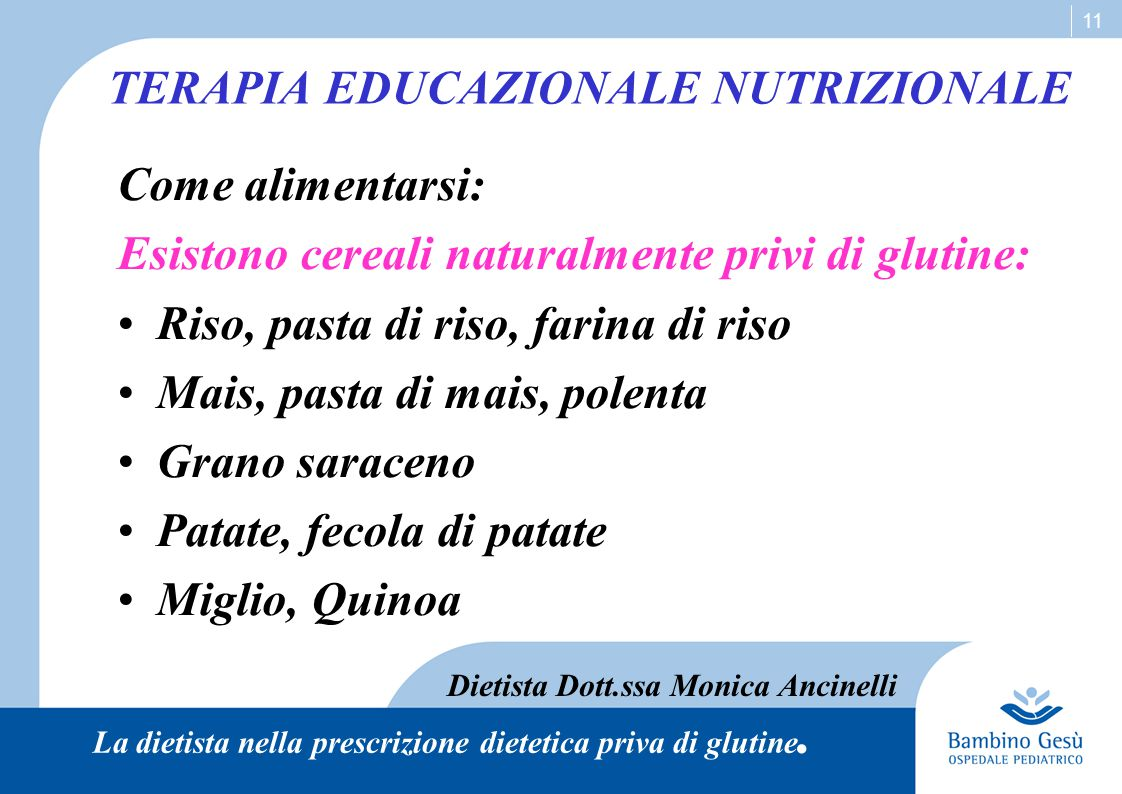 TERAPIA EDUCAZIONALE NUTRIZIONALE
