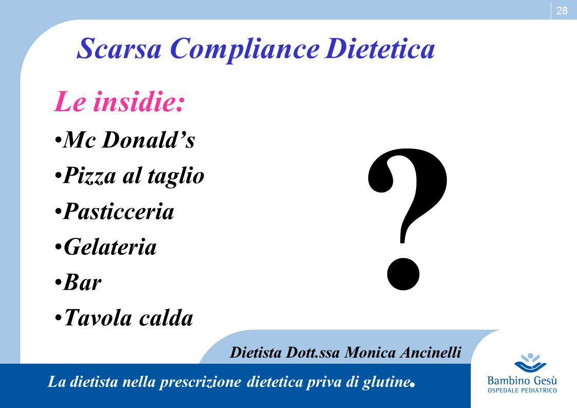 Scarsa Compliance Dietetica