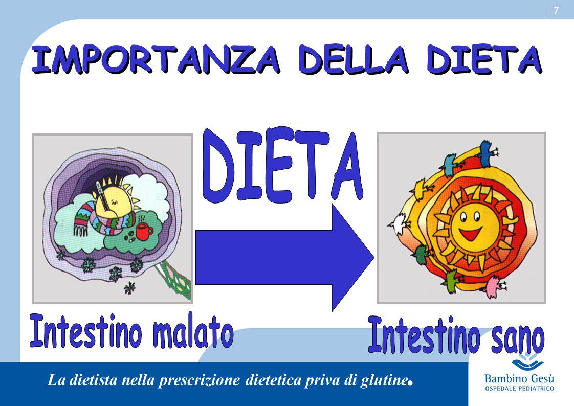 IMPORTANZA DELLA DIETA