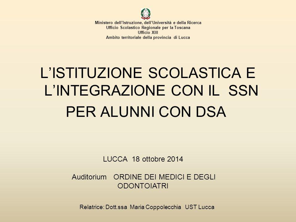 Ministero dell'Istruzione, dell'Università e della Ricerca Ufficio Scolastico Regionale per la Toscana Ufficio XIII Ambito territoriale della provincia di Lucca