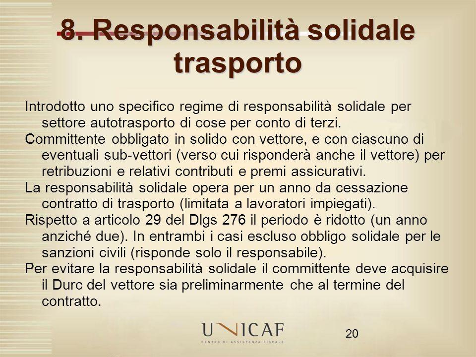 8. Responsabilità solidale trasporto