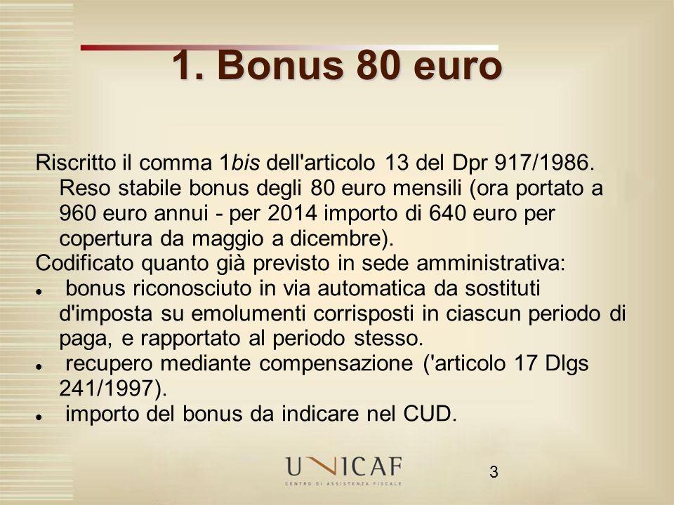 1. Bonus 80 euro