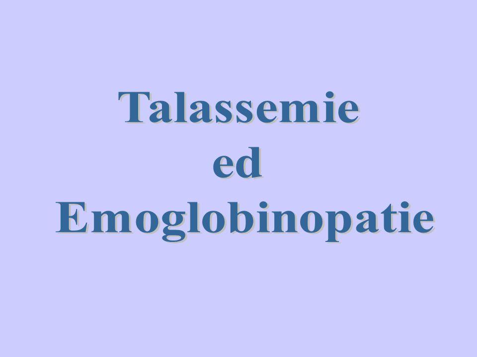 Talassemie ed Emoglobinopatie
