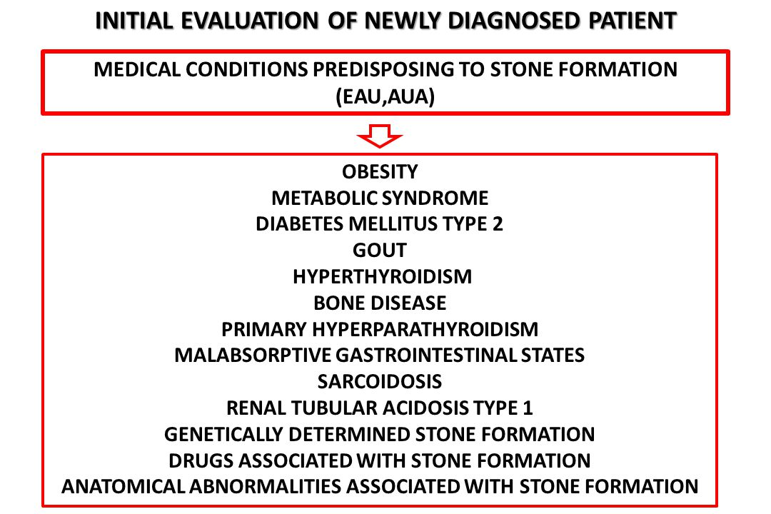 Initial evaluation of newly diagnosed patient