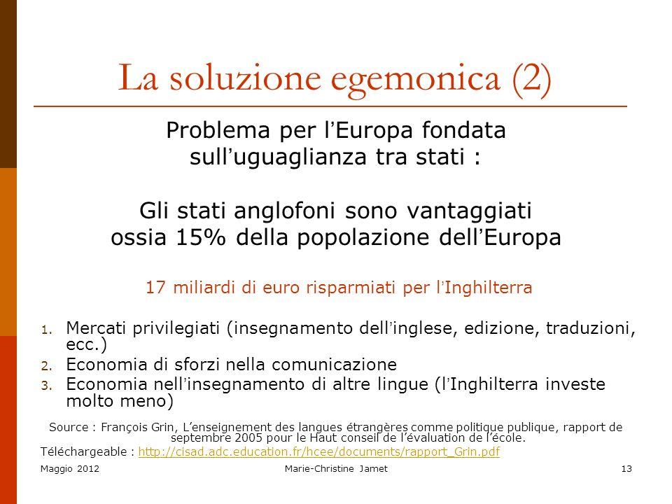 La soluzione egemonica (2)