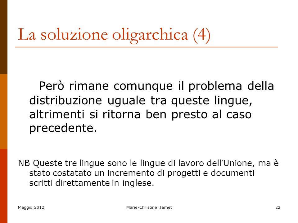 La soluzione oligarchica (4)