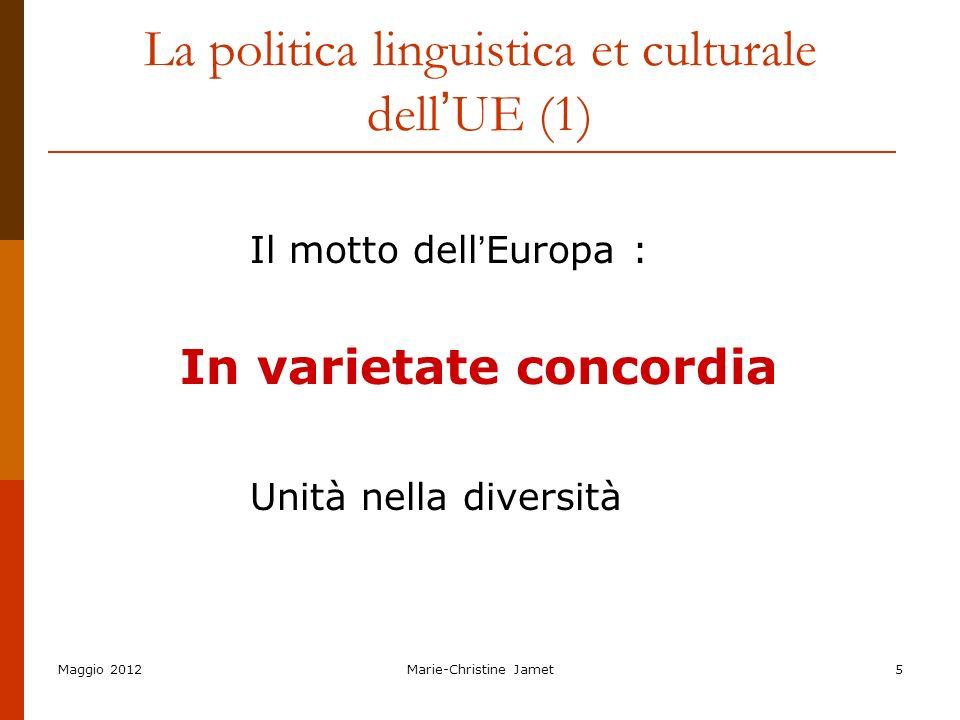 La politica linguistica et culturale dell'UE (1)