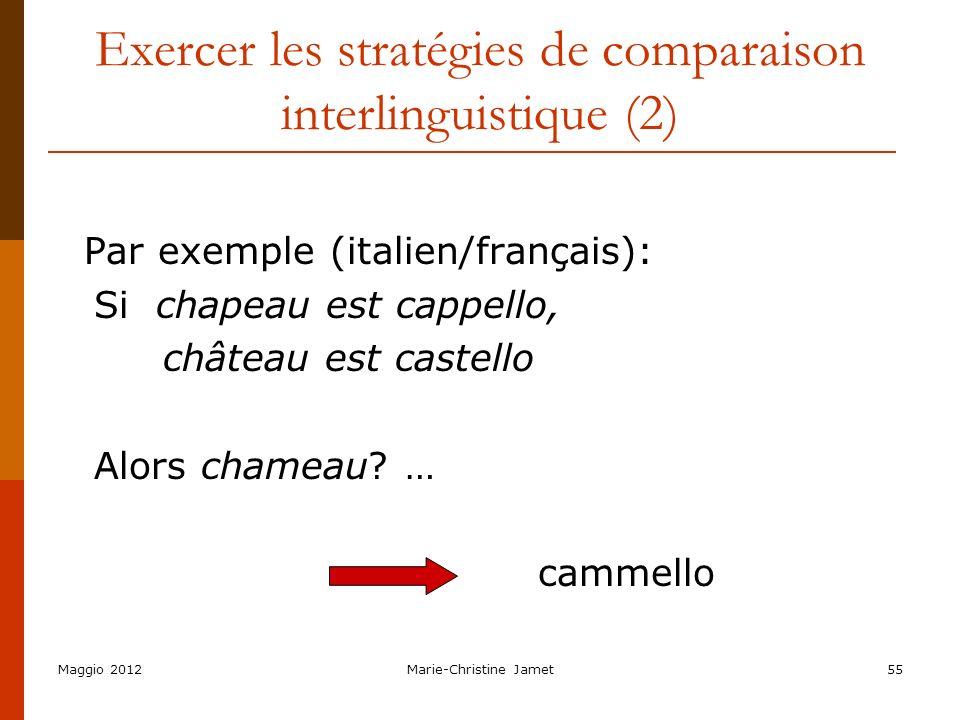 Exercer les stratégies de comparaison interlinguistique (2)