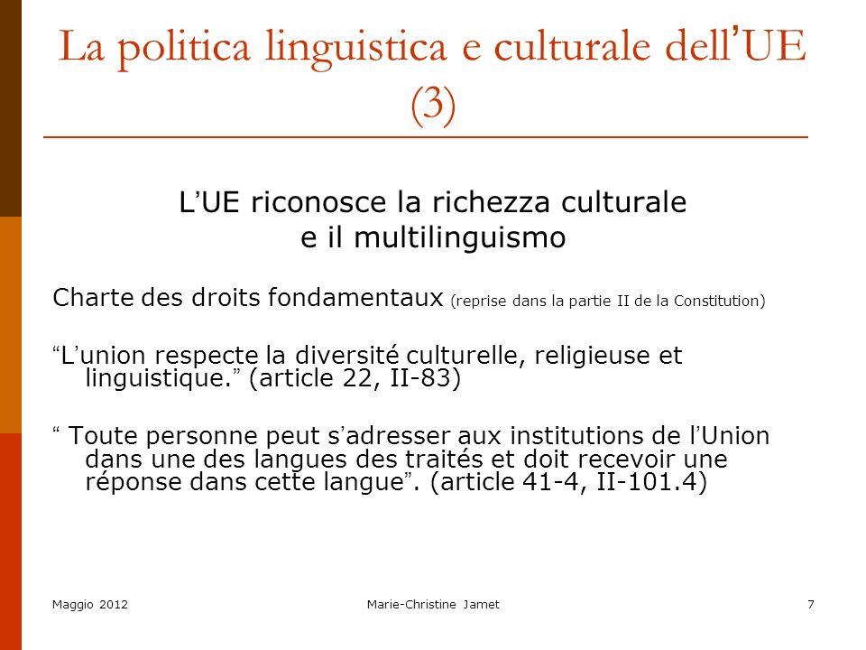 La politica linguistica e culturale dell'UE (3)