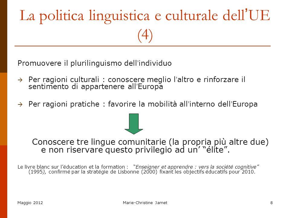 La politica linguistica e culturale dell'UE (4)