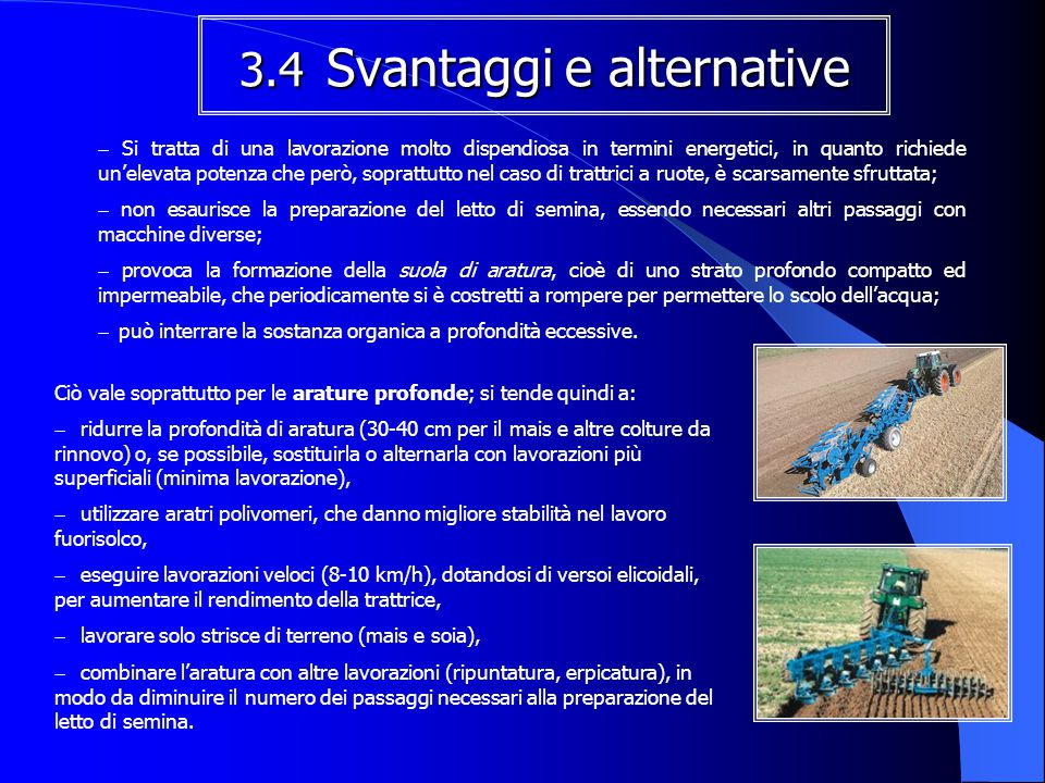 3.4 Svantaggi e alternative