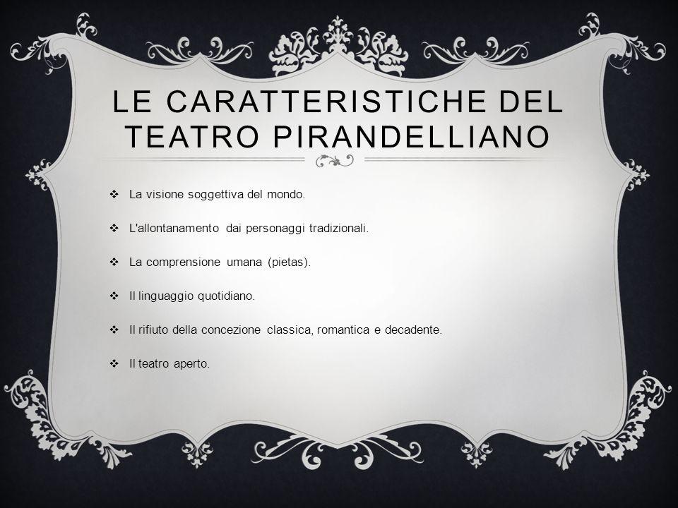 le caratteristiche del teatro pirandelliano