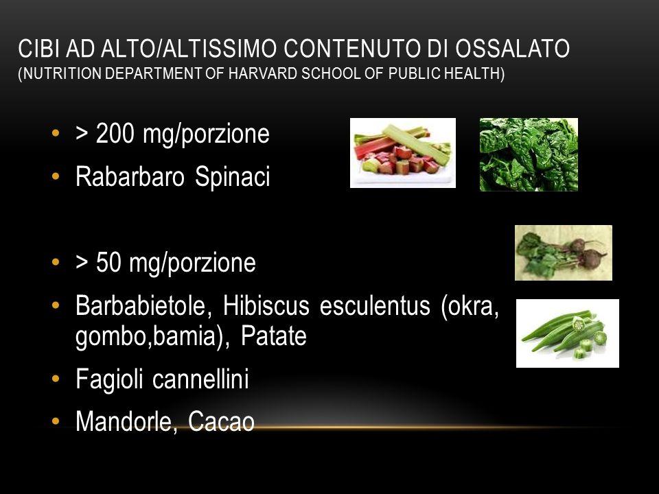 Barbabietole, Hibiscus esculentus (okra, gombo,bamia), Patate