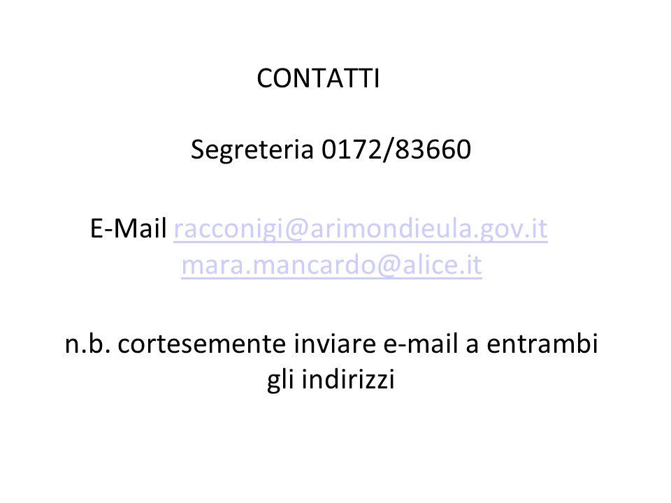 E-Mail racconigi@arimondieula.gov.it mara.mancardo@alice.it